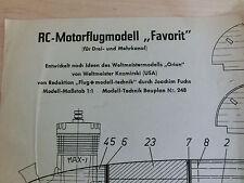 Modellbauplan RC-Motorflugmodell Favorit Nr. 248- Macchi Castoldi Nr.249