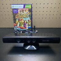Microsoft 1414 Xbox 360 Kinect Sensor Bar & Game- Black - Tested - Free Ship