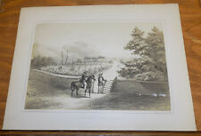 1856 Print, COMM. PERRY in Asia//NAPOLEON TOMB, FROM THE GATE, ST HELENA ISLAND