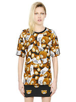 $425 AW15 Moschino Couture X Jeremy Scott Teddy Bears All over oversized Tshirt