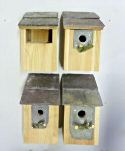 Bird House Nesting Boxes set of 4  Welsh Slate Robin sparrow great tit bluetits