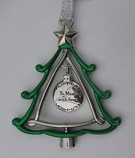 zzu To Mom with Love 3d CHRISTMAS TREE ORNAMENT charm Ganz