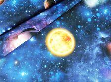 Stampa TELA Spazio Pianeta Terra ributti Saturn Galaxy (EUR 17,98/m)