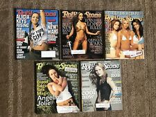 5 2001 Rolling Stone Magazine Lot! Alicia Keys, Jennifer Lopez, Angelina Jolie