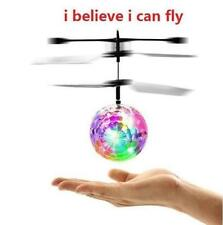 Hand Flying UFO Ball LED Mini Induction Suspension RC Aircraft Flying Toy Ball @