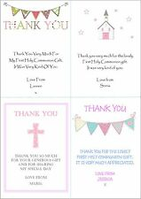 10 Personalised Girls First 1st Holy Communion Invitations / Thank You Cards