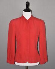 Armani Collezioni Women's Red Linen Blazer Jacket Size 4