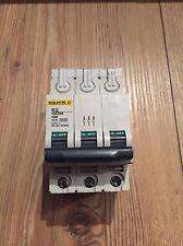Square D KQ 25 Amp Type C Circuit Breaker MCB 10C325 3 Phase Pole