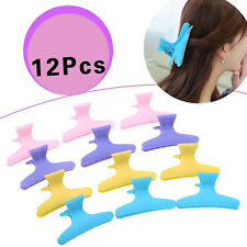 Colorful Hairdressing Tool Butterfly Hair Claw Salon Section Clip Clamps 12Pcs