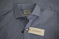 Lebury NEW WITH TAGS The Guyer Check Classic Light Blue Plaid Dress Shirt 16.5