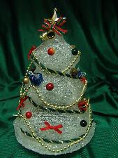 "8""Crystal Look Musical Tree W/Lights/Music W/Original Box North Pole"
