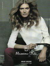 Publicité Advertising 2011  Massimo Dutti sac à main collection mode
