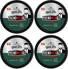 4x Schwarzkopf Got2b PHENOMENAL Hair Texturizing CLAY 100ml