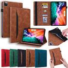 "For iPad 5/6/7/8/9th Pro 11 12.9"" Air 1 2 3 4 Mini Slim Leather Smart Case Cover"