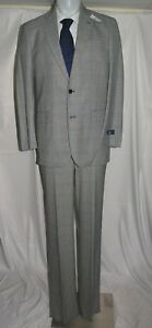 Brooks Brothers 1818 Madison Saxxon Gray Prince of Wales Two Button Suit 39L NWT