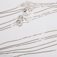 "12 pieces 16"" 40cm Italian 925 Sterling Silver 1mm BOX 015 CHAIN NECKLACES Lot"