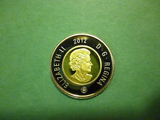 2012 Canada $2 Dollars, Nickel, Brass inner, Proof Frosted , Heavy Cameo.