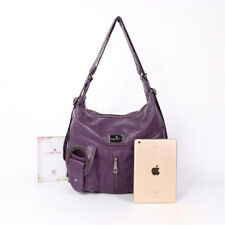 Purses and Handbags, Angelkiss Women's Washd Soft PU Leather Handbags for Ladies
