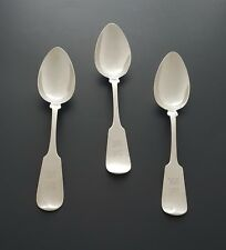 Set of 3 Sterling Silver large Spoons made by Albert Coles & Company