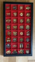 Lot Of 32 St. Louis Cardinals Pins Baseball MLB In Display Case World Series etc