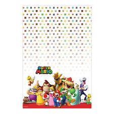"96"" x 54"" Super Mario Bros Nintendo Birthday Party Plastic Table Cover"