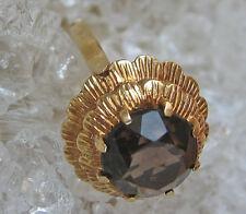 Fine☺☻6 Gramm in aus 14kt 585 Gold Ring mit Smoky topaz Rauchtopas antik antique