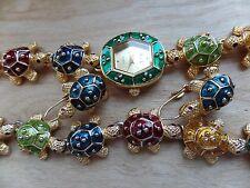"""KJL Kenneth Jay Lane Turtle Bracelet  7""""  Multi-Colored, Watch, And Earrings"""