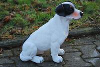 Jack Russell Sitzend Hund Gartenfigur Standfigur Dekoration Tierfigur