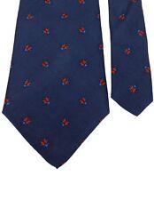 "Louis Dell'Olio Men's 100% Silk Woven Love Bug Neck Tie Navy Blue 3 3/4"" x 58"""