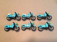 Lego motorcycle Lot of 6 Harley Davidson motorcycles minifig accessories N399
