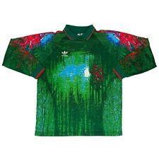 Men's Vintage Adidas Goalkeeper Football Long Sleeve Jersey Multicolor Made in U