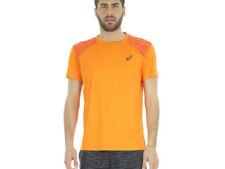 Abbigliamento da uomo arancioni per palestra , fitness , corsa e yoga poliestere l