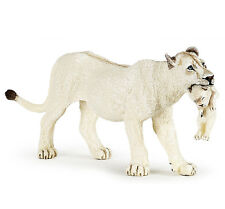 Papo 50203 White Lioness with Cub Model Wild Animal Lion Figurine Toy - NIP