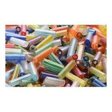 Packet 2200 Mixed Glass Circa 5-20mm X 2mm AB Tube Seed Beads Y12715
