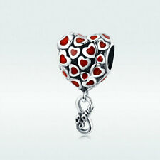 Charm Pendant Authentic 925 Sterling Silver End Less Love Fit Bracelet&Necklace