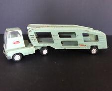 VINTAGE TONKA Pressed Steel Car Transport Carrier Toy Truck - Mint Green