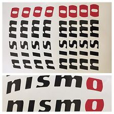 8pc Black/red NISMO Brake Caliper Vinyl Stickers Decals Logo Overlay Nissan