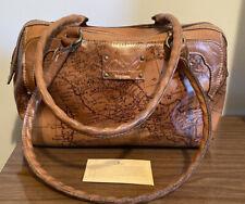 Patricia Nash $250 Leather Navelli Signature Map 👜