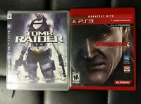 Metal Gear Solid 4 + Tomb Raider Game Lot PS3 Sony Playstation 3 Tested Complete