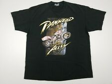 New listing Panhead Alley Vintage 1995 Motorcycle T Shirt Size Xl Black Cotton Double Sided