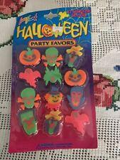 Vintage Lisa Frank Halloween Party Favors 12 Goulish Erasers