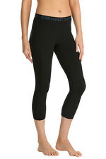 Bonds Ladies Black Core 3/4 Length Cotton Stretch Leggings Size M New CXKAI