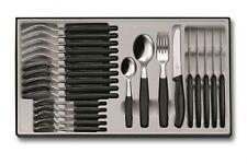 VICTORINOX Tafelbesteck Besteck 24-teilig Besteckkasten Messer schwarz 6.7833.24