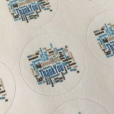 "63 Thank You Blue Til!!! ENVELOPE SEALS LABELS STICKERS 1"" Round"