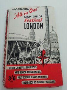 1951 Festival of Britain exhibition map guide - Geographia