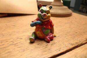 Disney By Britto 4026296 Mini Figurine Pooh l'Ourson Résine 6 cm