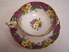 "PARAGON  ~ ""SPRING MELODY""  TEA CUP AND SAUCER TEACUP WIDE MOUTH FLORAL D HANDLE"