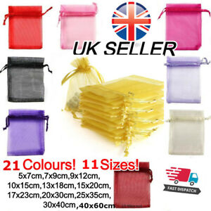 WHOLESALE Organza Gift Bags Luxury Jewellery Pouch XMAS Wedding Party Candy