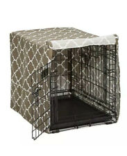 "Midwest Quiettime Defender Dog Crate Cover, Brown, 48""L X 30""W X 33""H"