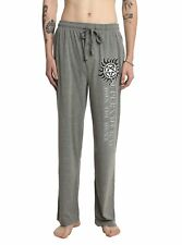 Mens Women NEW Gray Supernatural Join The Hunt Pajama Lounge Pants Size L